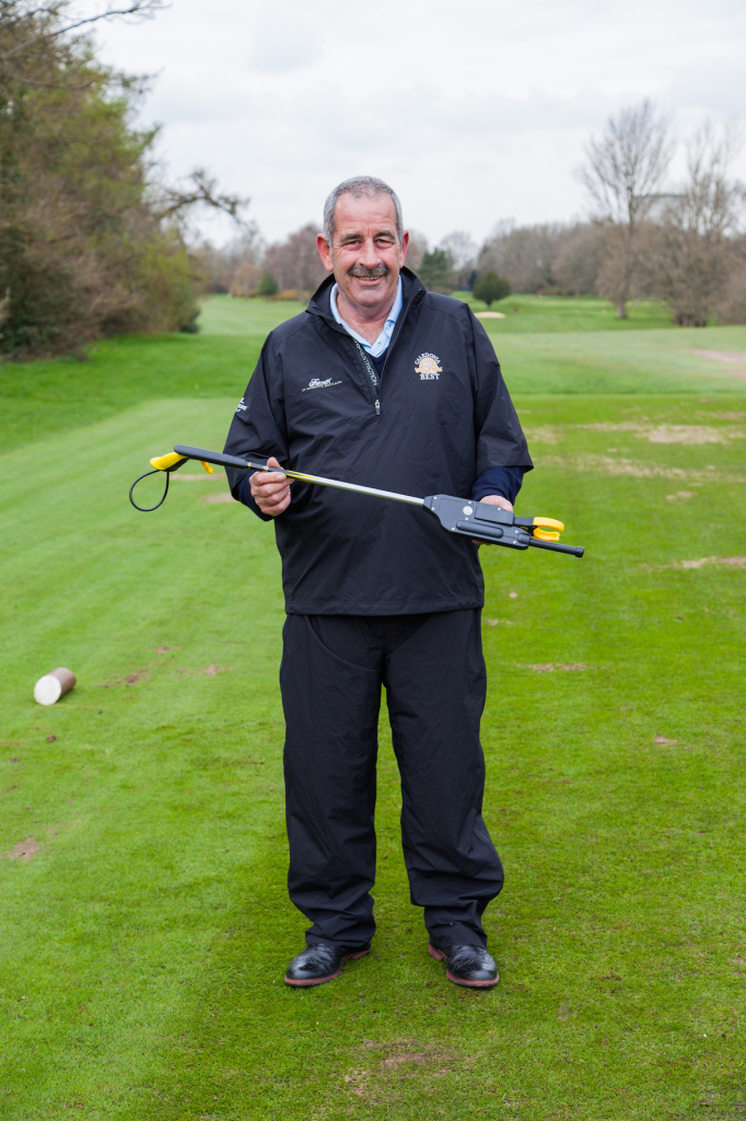 Sam Torrance OBE with the Tee-Up by Northcroft Golf smaller version