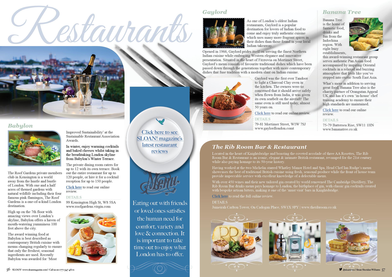sloan magazine october 2015 restaurants 2 - Contemporary Restaurant 2015