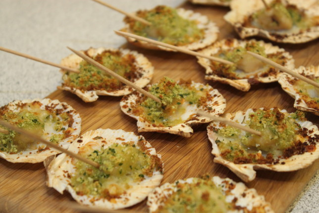 Festive canap s at billingsgate seafood school sloan for How to make canape shells at home
