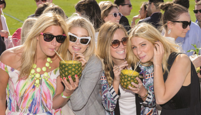 20130608 Copyright image 2013© Cheska Hull, Phoebe-Lettice Thompson, Fran Newman-Young and Olivia Newman-Young, stars of Made in Chelsea at the VIP Marhiki Tent. MINT Polo in the Park 2013, kicks off the Summer Social Season. Hurlingham Park in Fulham, played host to the MINT Polo in the Park 2013. The event, June 7th, 8th and 9th fused a quintessentially British atmosphere with a truly international flavour of the sport. Teams taking part are IG Team Sydney, City A.M. Team Abu Dhabi, Camino Real Team Buenos Aires, Mandarin Oriental Hyde Park Team Beijing, Otkritie Team Moscow and the 2012 Champions, MINT Team London. For further info please contact Yolanda Copes-Stepney yolanda.copes-stepney@captiveminds.com 020 7422 8269 For photographic enquiries please call Anthony Upton 07973 830 517 or email info@anthonyupton.com This image is copyright Anthony Upton 2013©. This image has been supplied by Anthony Upton and must be credited Anthony Upton. The author is asserting his full Moral rights in relation to the publication of this image. All rights reserved. Rights for onward transmission of any image or file is not granted or implied. Changing or deleting Copyright information is illegal as specified in the Copyright, Design and Patents Act 1988. If you are in any way unsure of your right to publish this image please contact Anthony Upton on +44(0)7973 830 517 or email: