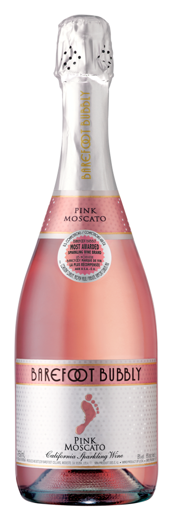 Barefoot Bubbly NV California Pink Moscato
