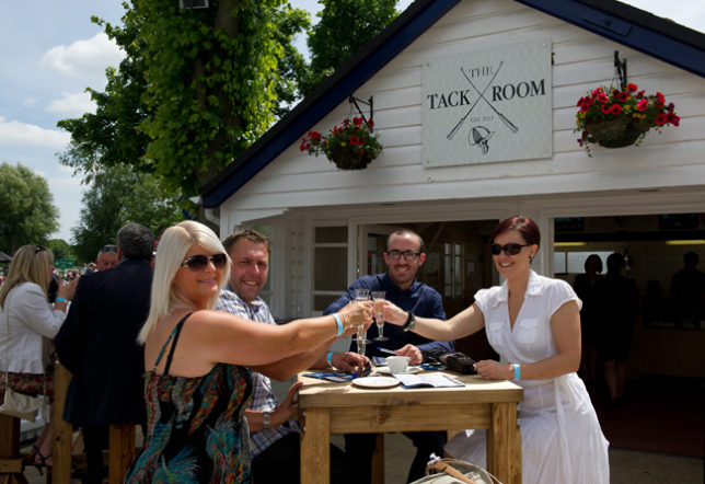 Champagne at The Tack Room at Royal Windsor Racecourse