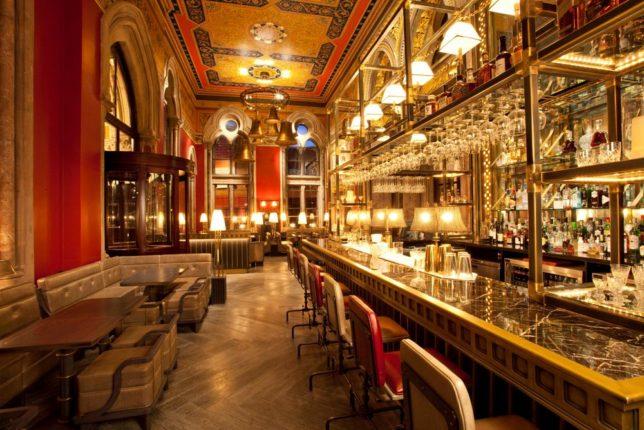 LR The Gilbert Scott Bar lit up