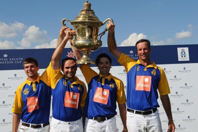 The winning Commonwealth team at Royal Salute Coronation Cup 2016 © www.imagesofpolo.com