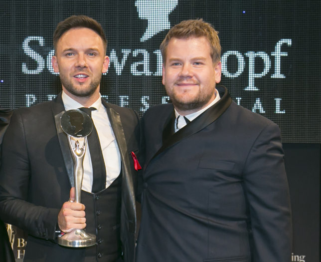 Jamie Stevens James Corden British Hairdresser Award