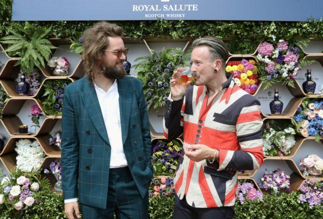 Royal Salute Creative Advisor Barnabé Fillion and Royal floral artist Simon Lycett (Photo courtesy of The Button Collective)
