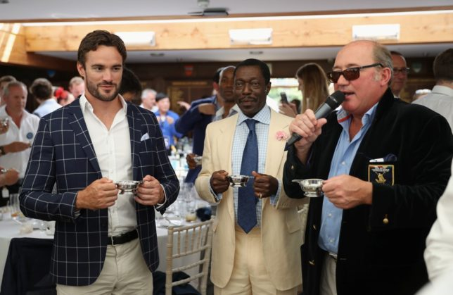 Thom Evans is with Prince Albert Esiri of Nigeria and Peter Prentice of Royal Salute