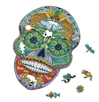 Sugar Skull Wentworth Wooden Jigsaw Puzzle