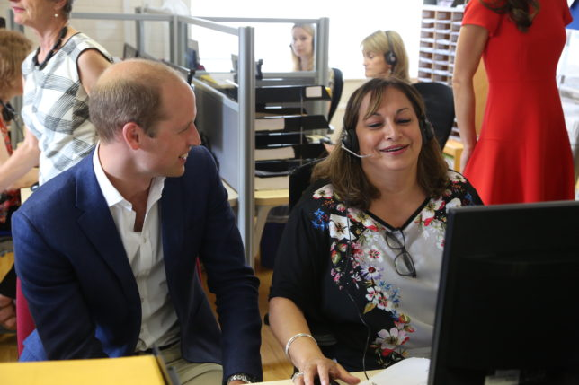 The Duke of Cambridge with Debrina Lloyd-Davies