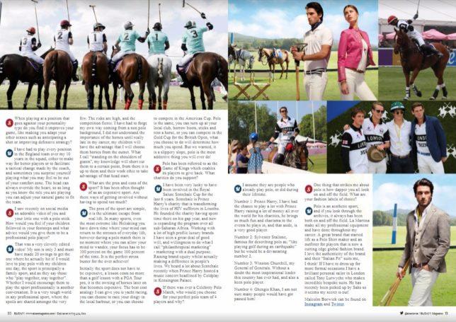 La Martina, Polo in the Park, Malcolm Borwick, SLOAN Magazine