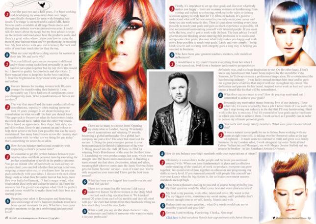 Jamie Stevens X Factor Hairdresser