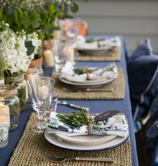 How to set the perfect summer table SLOAN Magazine : Herb Napkin White Multi 10 Desert Plate Beige 19 Dinner Plate Blue 25 wwwLexingtonCompanycom e1496230517790 644x678 from www.sloanmagazine.com size 644 x 678 jpeg 113kB