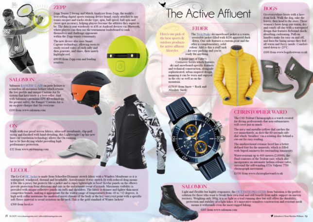 033d48185 The HC Jacket appears in the Active Affluent feature in the new issue of  SLOAN! Click here to read all about the sporty items we recommend to kit  you out in ...