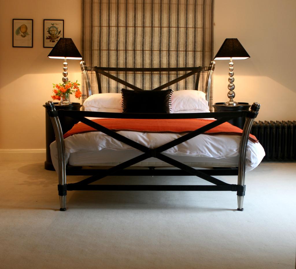 black bedroom with versailles