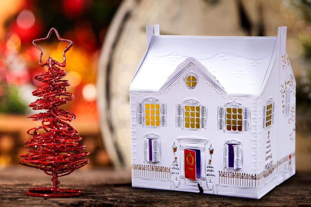 Hallmark 3D Christmas House Luxury Card