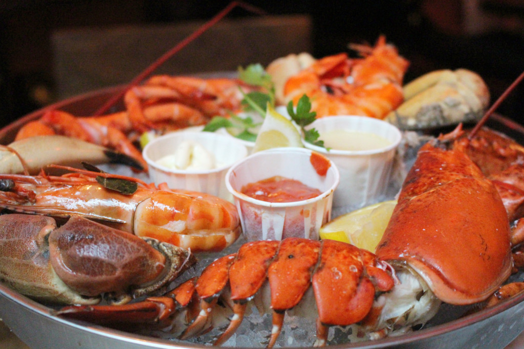 Big Easy Covent Garden - seafood plate overview