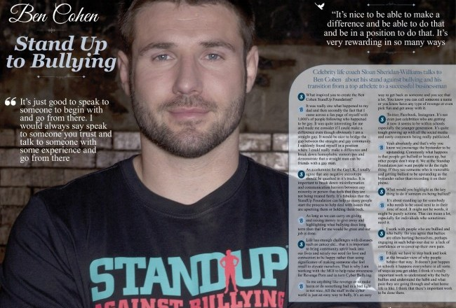 SLOAN magazine Ben Cohen StandUp Foundation