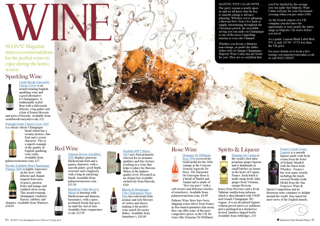 SLOAN Magazine October 2015 Wine