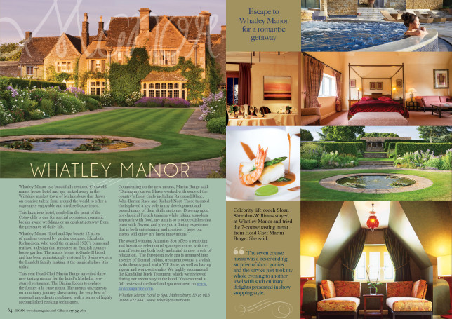 SLOAN Magazine October 2015 Whatley Manor