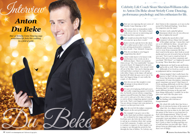 SLOAN Magazine October 2015 Anton Du Beke 1