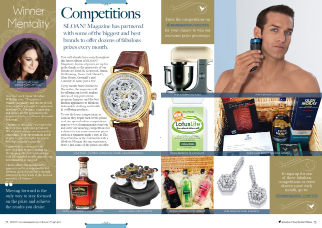 SLOAN Magazine October 2015 Competition Prize Giveaway