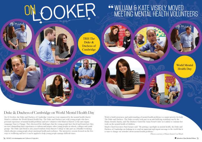 SLOAN Magazine October 2015 Onlooker HRH Duke Duchess Cambridge