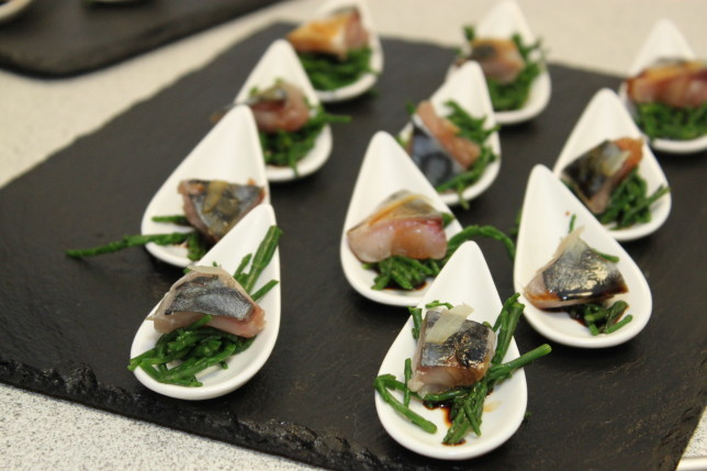 Mackerel Ceviche on Samphire with Soy Dressing