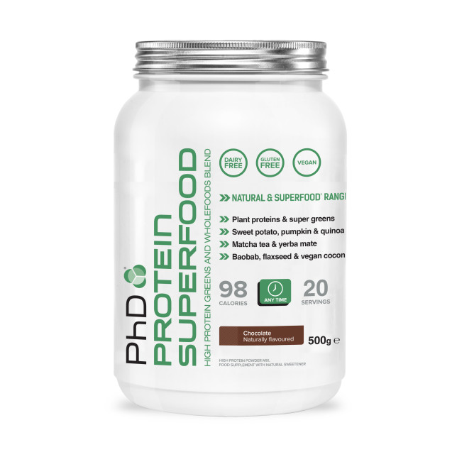 protein superfood 500g tub (chocolate)