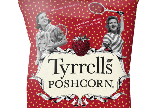Tyrrells Strawberries & Cream Poshcorn