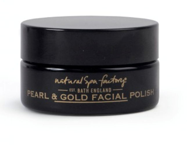 Pearl and gold facial polish