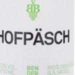 Hofpäsch Riesling Auslese 2014