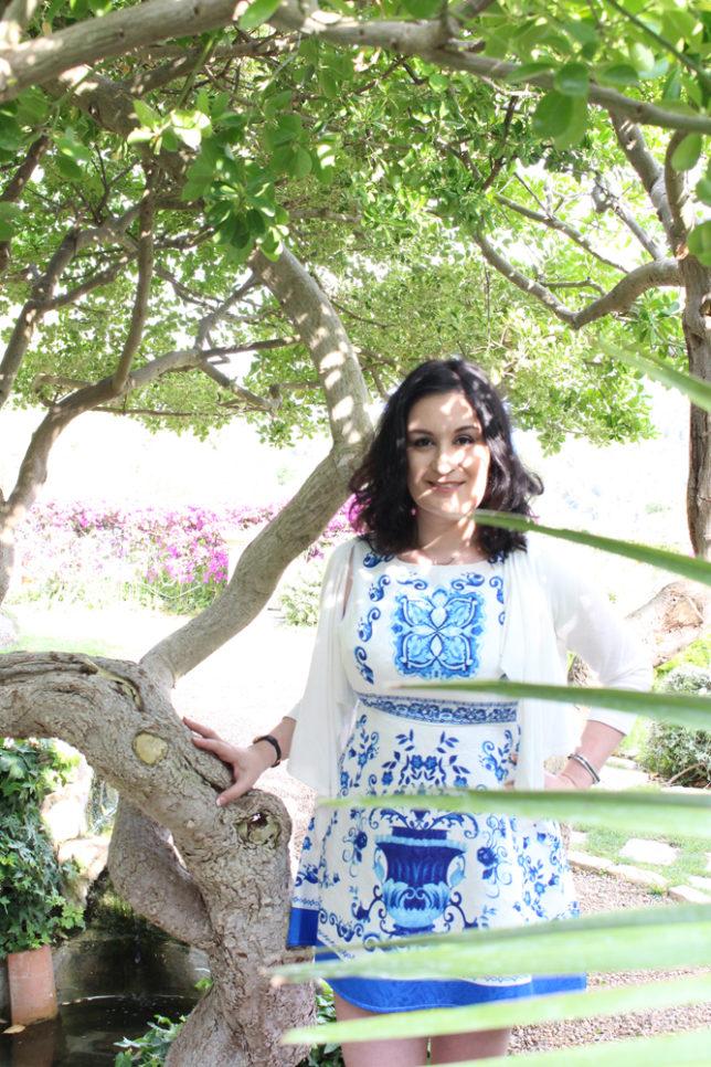 Sloan in greenery