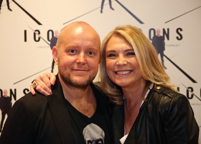 Lincoln Townley with Glynis Barber