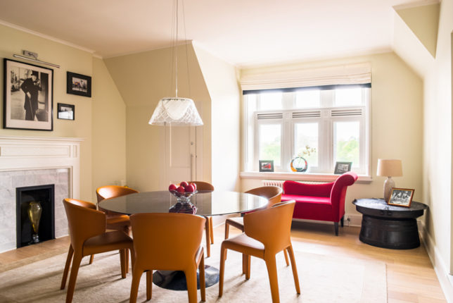 Dining Room with views across Kensington Gardens and the Palace