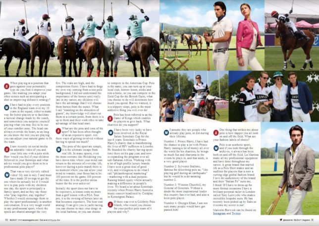 La Martina, Polo in the Park, Malcolm Borwick, SLOAN Magazine