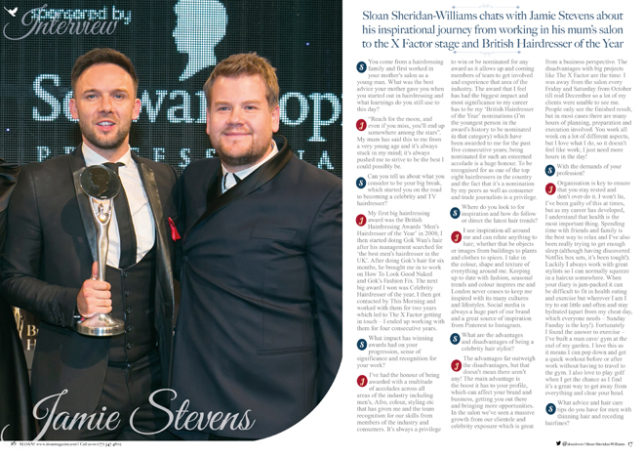 Jamie Stevens British Hairdresser of the Year